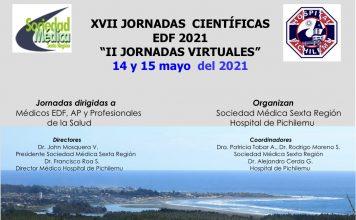 """XVII JORNADAS CIENTÍFICAS EDF 2021 """"II JORNADAS VIRTUALES"""" 14 y 15 de mayo del 2021"""